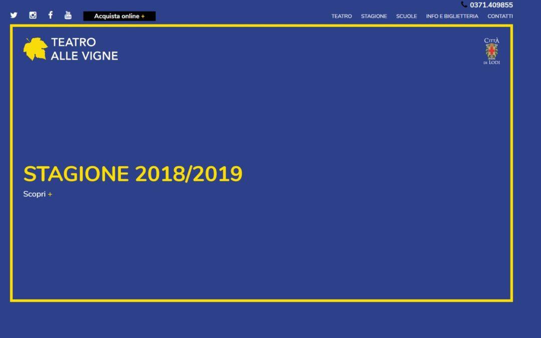 Teatro alle Vigne – stagione 2018 2019
