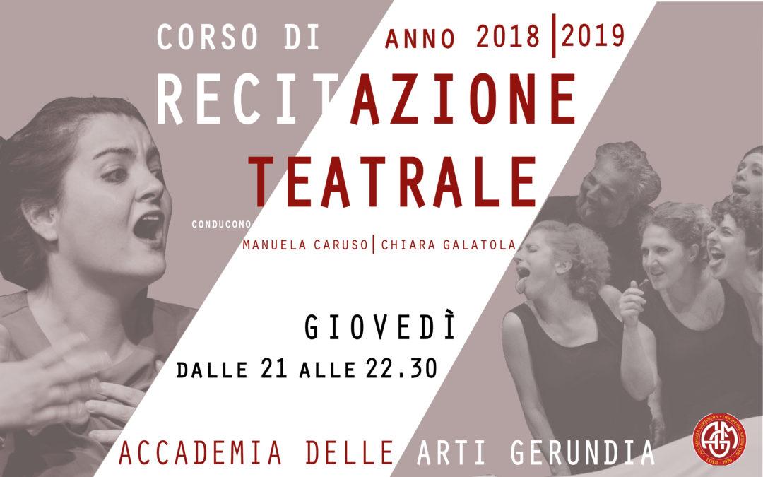 Corso di Recitazione teatrale – 2018/2019