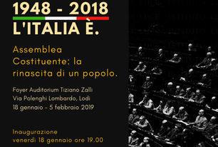 1948 – 2018 L'ITALIA E'. Mostra dedicata all'Assemblea Costituente