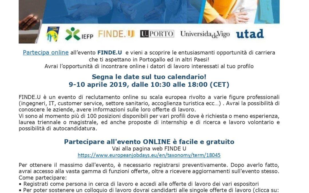 Fiera del lavoro online FINDE.U 9-10 aprile 2019