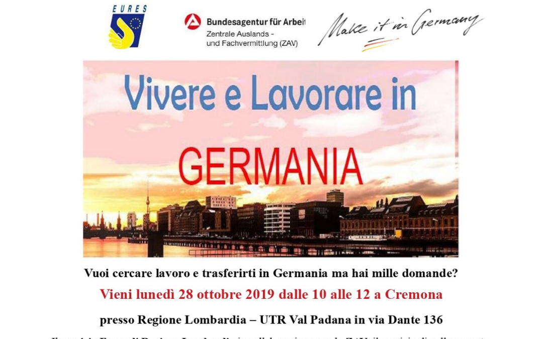 SAVE THE DATE 28 ottobre a Cremona-seminario su Germania