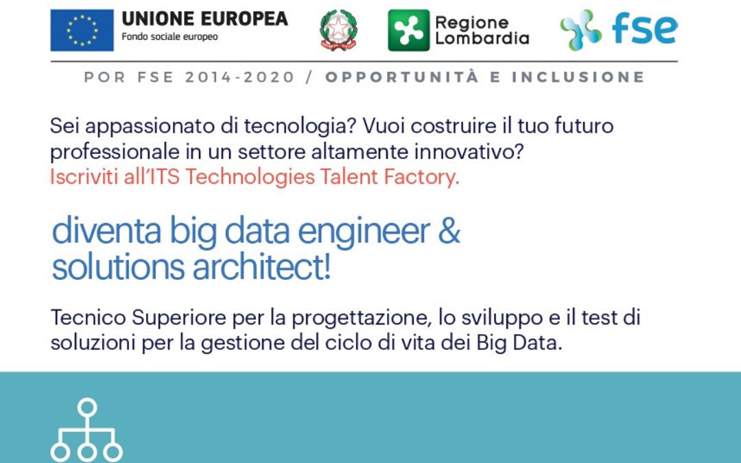 Corso ITS Big Data Engineer & Solutions Architect