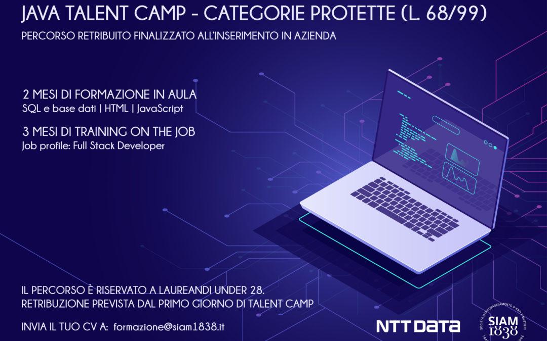 Java Talent Camp- formazione categorie  protette