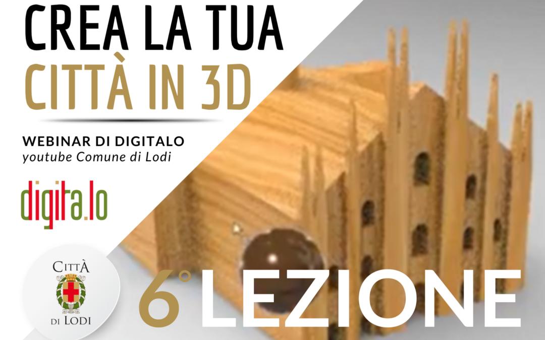 Webinar di Digitalo – Modellazione 3D